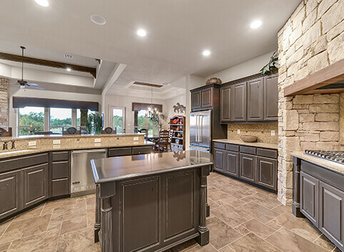 Images of custom home kitchens