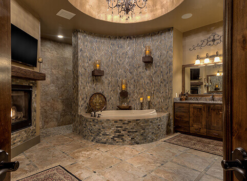 Images of custom home bathrooms