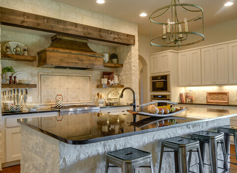 Images of custom home interiors